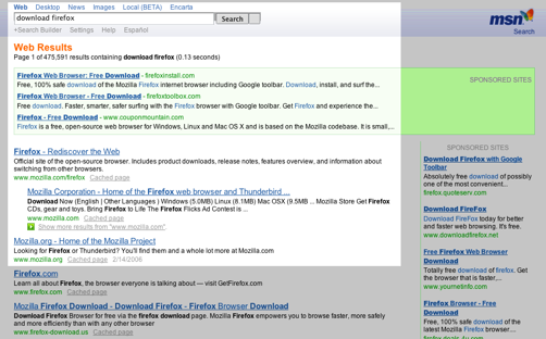 Msn Search Download Firefox