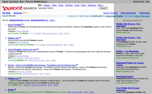 Download Firefox - Yahoo! Search Results-1